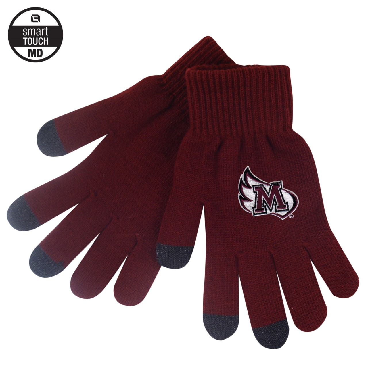 Image for the Smart Touch Knit Gloves, Burgundy product