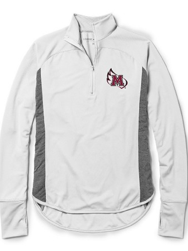 Image for the Women's Lightweight 1/4 Zip, White with M-Wing product
