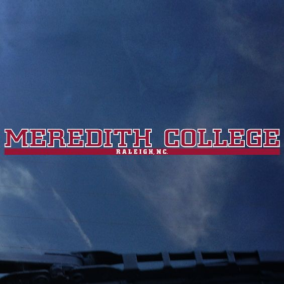 Image for the Decal, Long Meredith College Raleigh, NC product