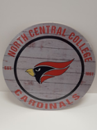 Image for the North Central College Weathered Circle Classic Sign made by Kindred Hearts product