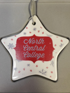 Image for the North Central College Ceramic Star Ornament by Neil Enterprises product