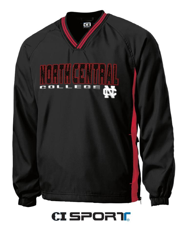 Image for the North Central College Tipped Vneck Raglan Windshirt by CI Sports product