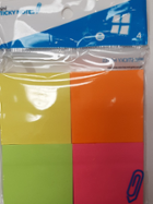 Image for the 2x2 Neon Mini Sticky notes (4 pads) product