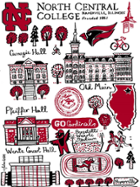 Image for the North Central College Tapestry blanket by Julia Gash product