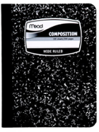 Image for the Square Deal® Composition Books; Black Marble Cover; College Ruled product