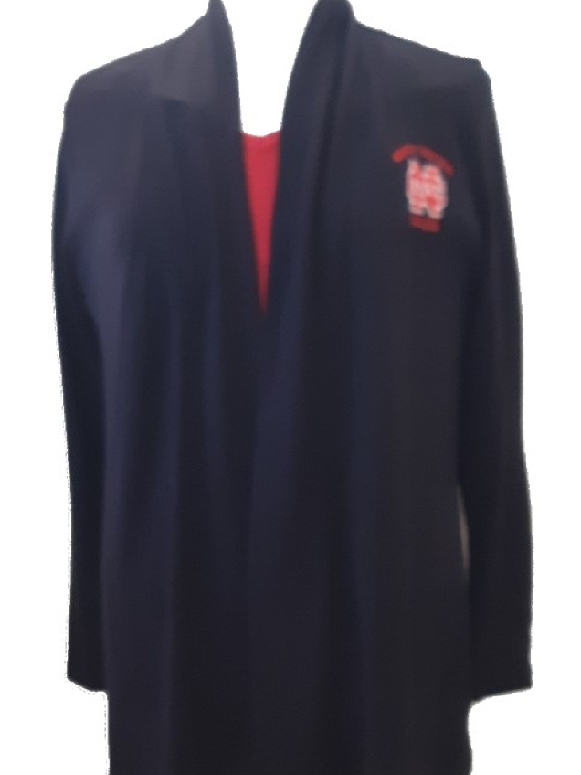 Alternative Image for the North Central College Women's Open Front Cardigan w/out Pockets product