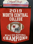 Image for the North Central College Championship 18x24 Rafter Banner - Flock Plus product