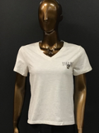 Image for the Women's Intramural Boyfriend Tee; Heather Gold/Heather Linen; L2 product