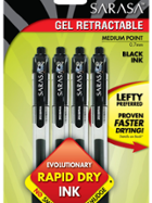Image for the Zebra Pen Sarasa Retractable Gel Pen Black .7mm 4pk product