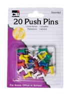 Image for the Push Pins Asst .44in 20pk product