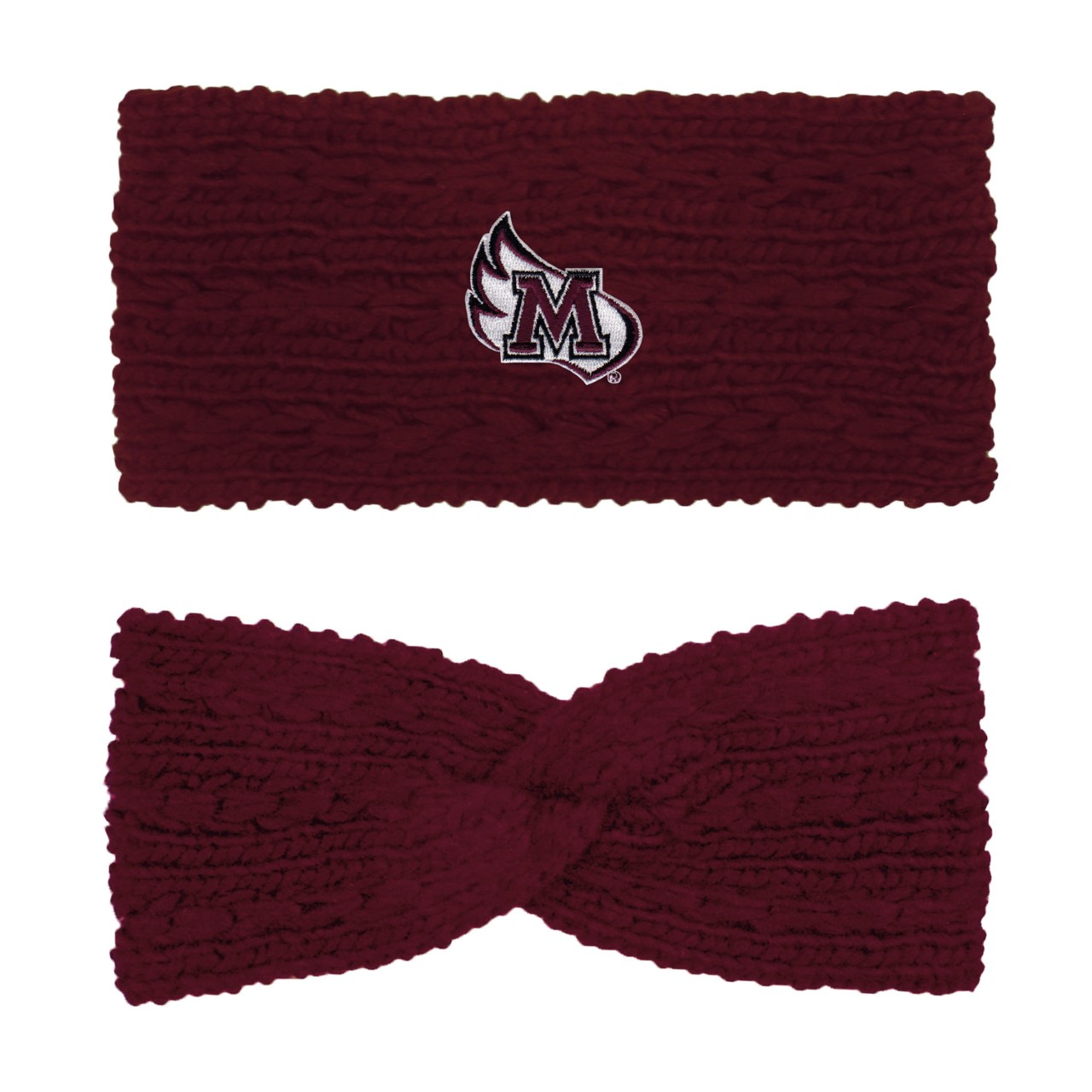Image for the Knit Twist Ear Band, Burgundy product