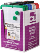 Image for the Charles Leonard Magnetic Dry Erase Board Assorted Colors 8.5 x 11 product