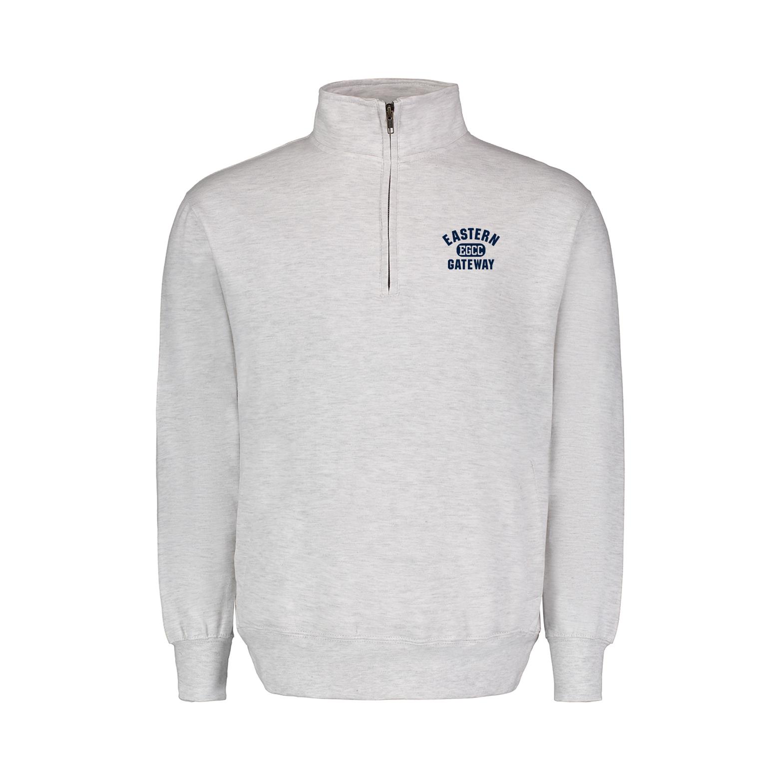 Image for the Quarter Zip Sweatshirt Gray Eastern Gateway EGCC product
