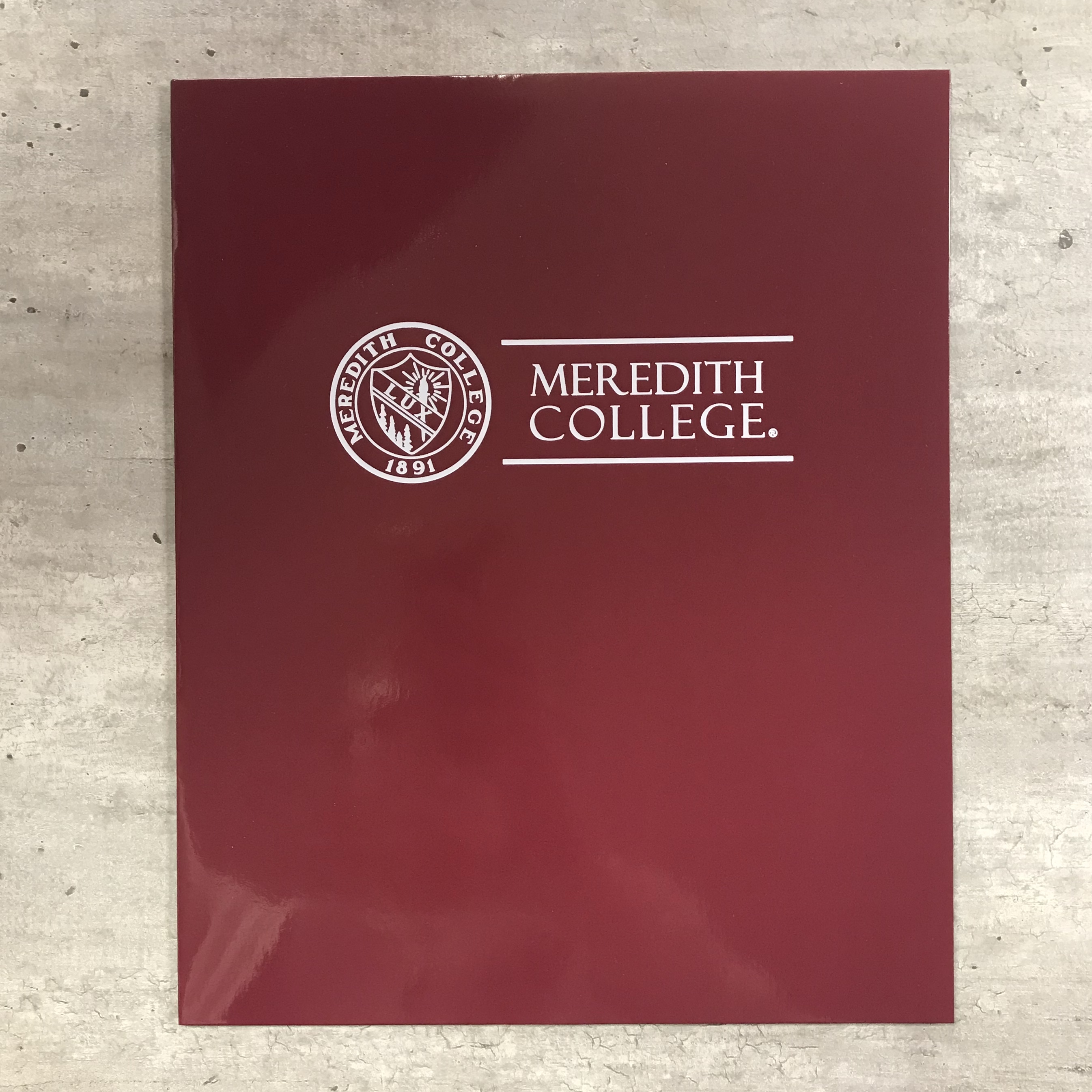 Image for the Pocket Folder, Seal Meredith College product
