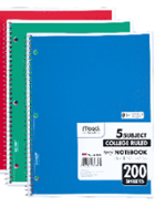 Image for the Five Subject Wirebound Notebook product