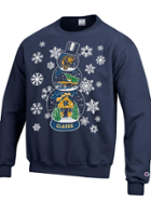 """Image for the Ugly Holiday """"Sweater"""" Snowglobe Powerblend Fleece Crew product"""