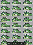 Image for the EGCC Gator Sticker Sheet product
