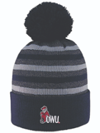 Image for the 'Doc' Marled Yarn Cuff Hat with Pom product