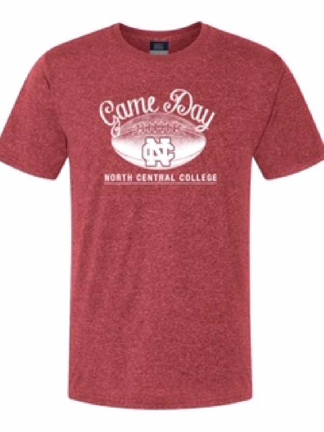 Image for the North Central College Football Heather red athletic Tee product