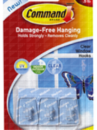 Image for the Command Adhesive Hook Clear Small 3PK for Windows product