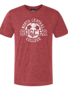 Image for the North Central College Soccer Heather Athletic Tee product