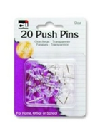 Image for the Push Pins Clear .44in 20pk product