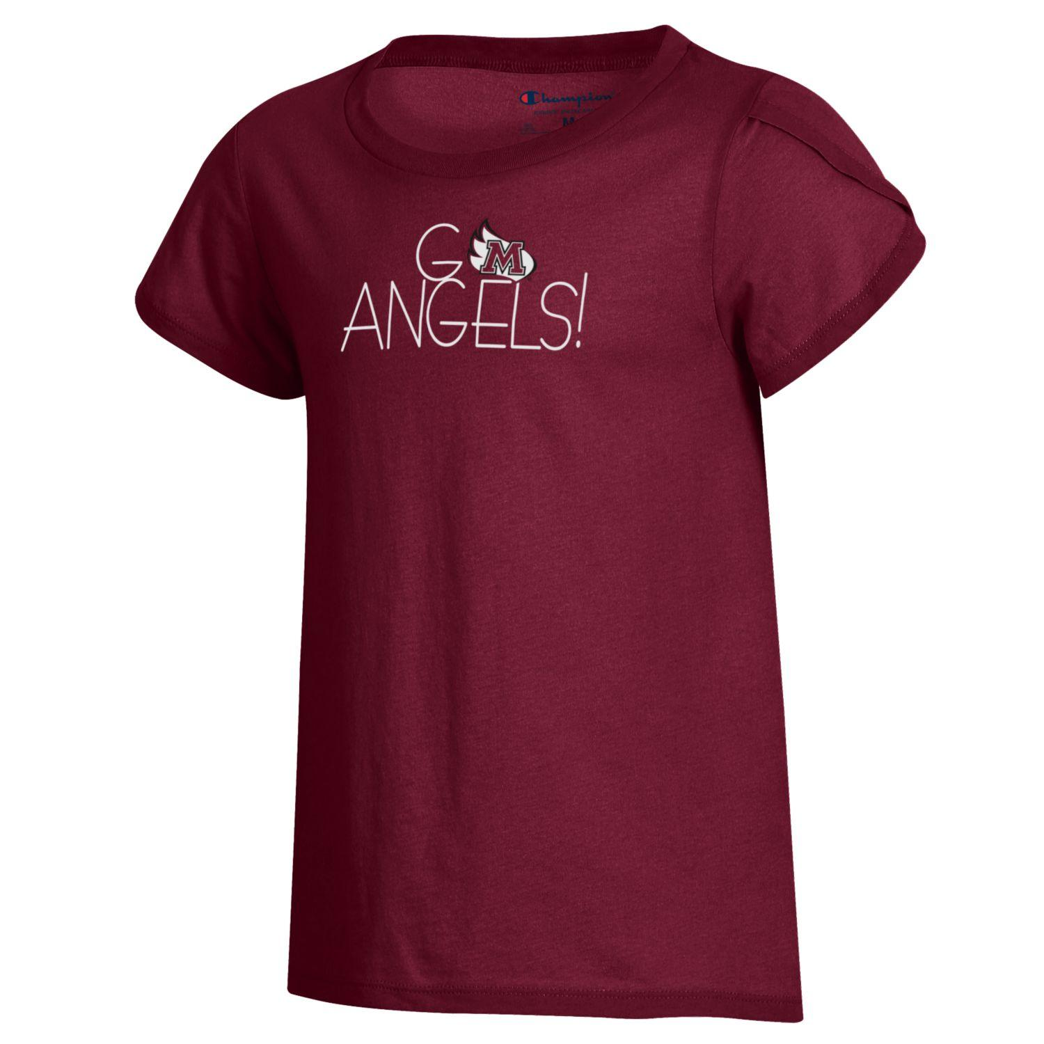 """Image for the Girl's Short Sleeve """"Girly"""" Tee, Maroon product"""