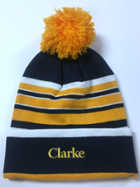 Image for the Bradshaw Striped Knit Cuff Hat with Pom by LogoFit product