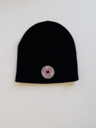 Image for the Black knit non cuff beanie by L2 Brands product