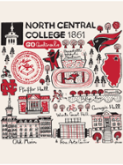 Image for the North Central College Kitchen Tea Towel  - Julia Gash product