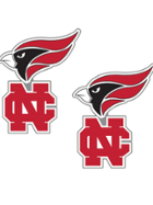 Image for the North Central College Cardinal NC Earrings product