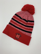 Image for the North Central College Doc Marled yarn cuff hat with pom by Logofit product