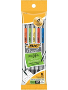 Image for the BIC  Xtra Life Mechanical Pencil 5 Pack .7mm(Black) Clear Barrel product