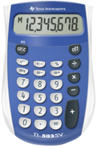 Image for the TI 503 SuperView Calculator Texas Instruments Blue product